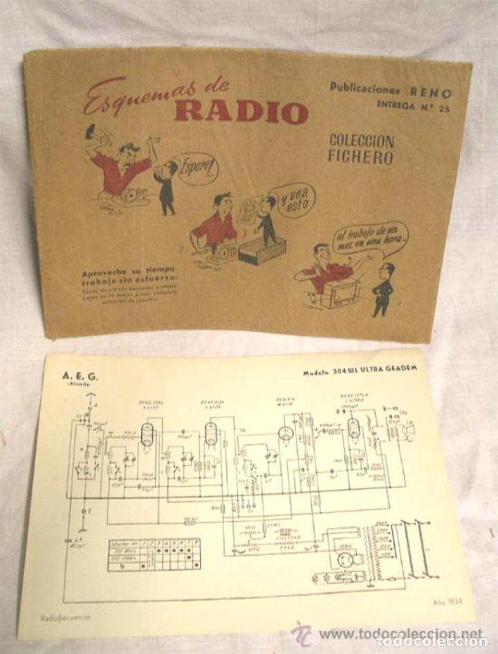 ESQUEMAS DE RADIO FICHA DE PUBLICACIÓN RENO, PHILIPS Y RCA, PRECIO UNIDAD (Radios, Gramófonos, Grabadoras y Otros - Fonógrafos y Grabadoras de Válvulas)