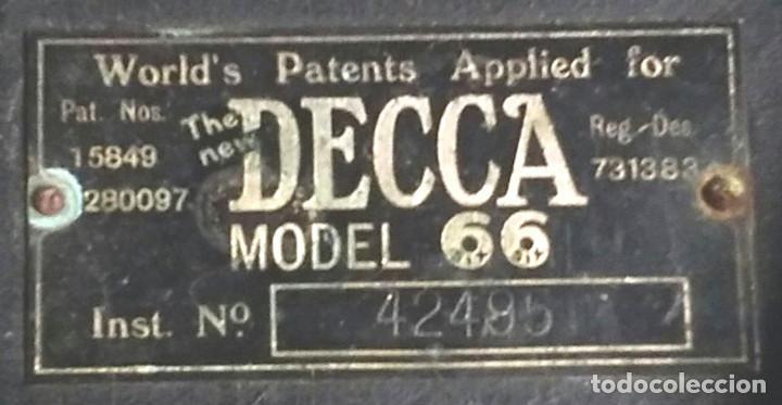 Fonógrafos y grabadoras de válvulas: Gramola Gramofono Decca Modelo 66, recambio altavoz o trompa - Foto 3 - 194408128