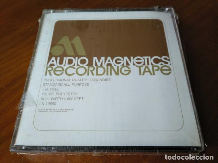 CINTA MAGNETICA MAGNETOFON MAGNETOFONO AUDIO MAGNETICS 5 IN. REEL RECORDING TAPE EN CAJA SIN ABRIR (Radios, Gramófonos, Grabadoras y Otros - Fonógrafos y Grabadoras de Válvulas)