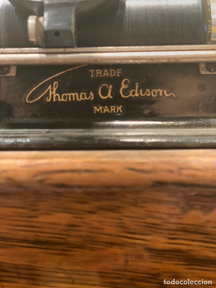 Fonógrafos y grabadoras de válvulas: Fonografo Edison primeros '900 + accesorios - Foto 2 - 204366555