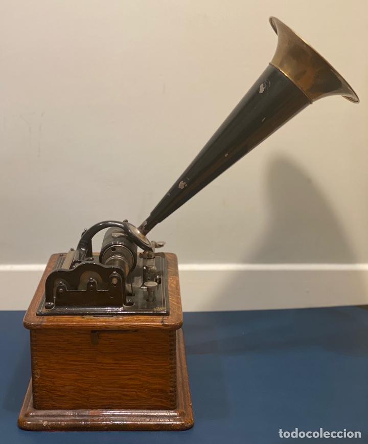 Fonógrafos y grabadoras de válvulas: Fonografo Edison primeros '900 + accesorios - Foto 3 - 204366555