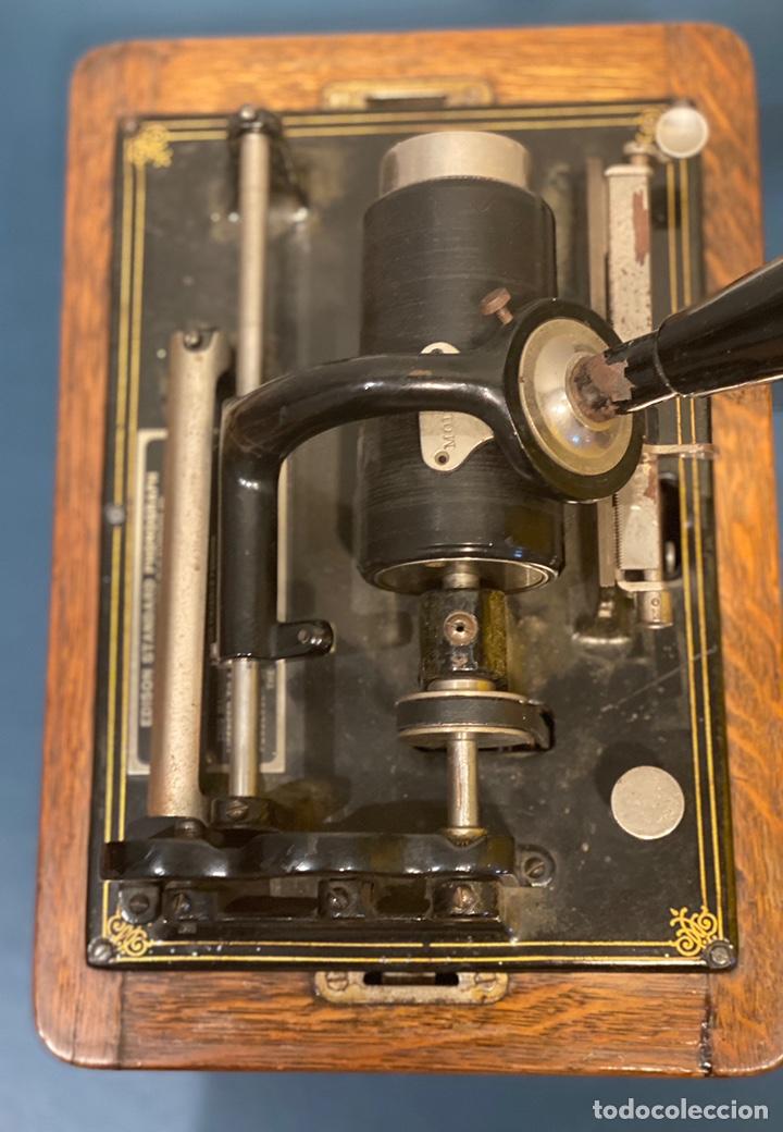 Fonógrafos y grabadoras de válvulas: Fonografo Edison primeros '900 + accesorios - Foto 4 - 204366555