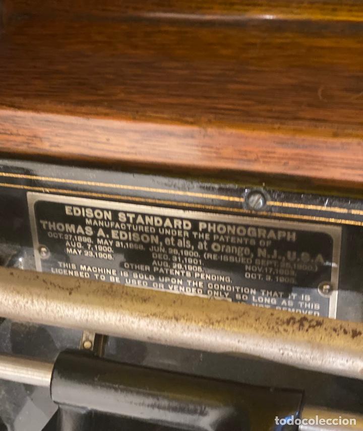 Fonógrafos y grabadoras de válvulas: Fonografo Edison primeros '900 + accesorios - Foto 6 - 204366555
