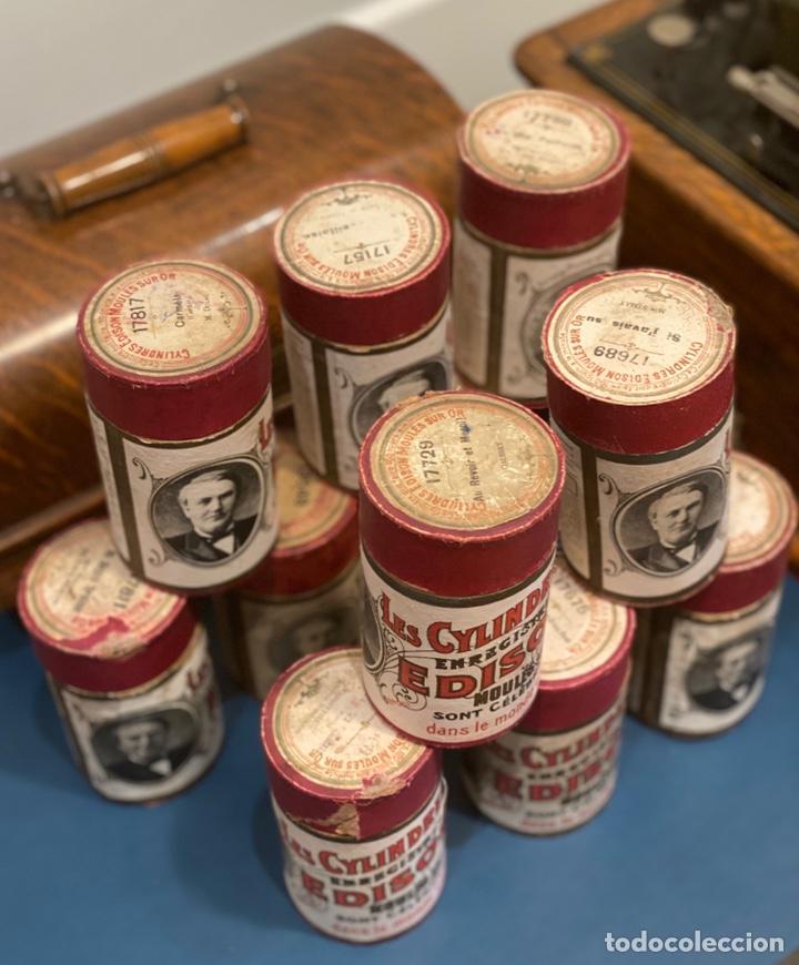 Fonógrafos y grabadoras de válvulas: Fonografo Edison primeros '900 + accesorios - Foto 9 - 204366555