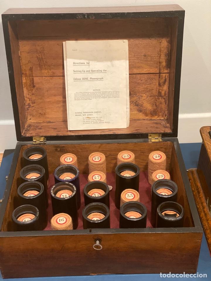 Fonógrafos y grabadoras de válvulas: Fonografo Edison primeros '900 + accesorios - Foto 15 - 204366555