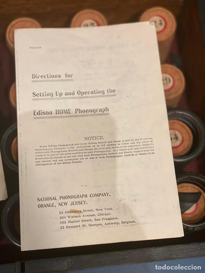 Fonógrafos y grabadoras de válvulas: Fonografo Edison primeros '900 + accesorios - Foto 17 - 204366555