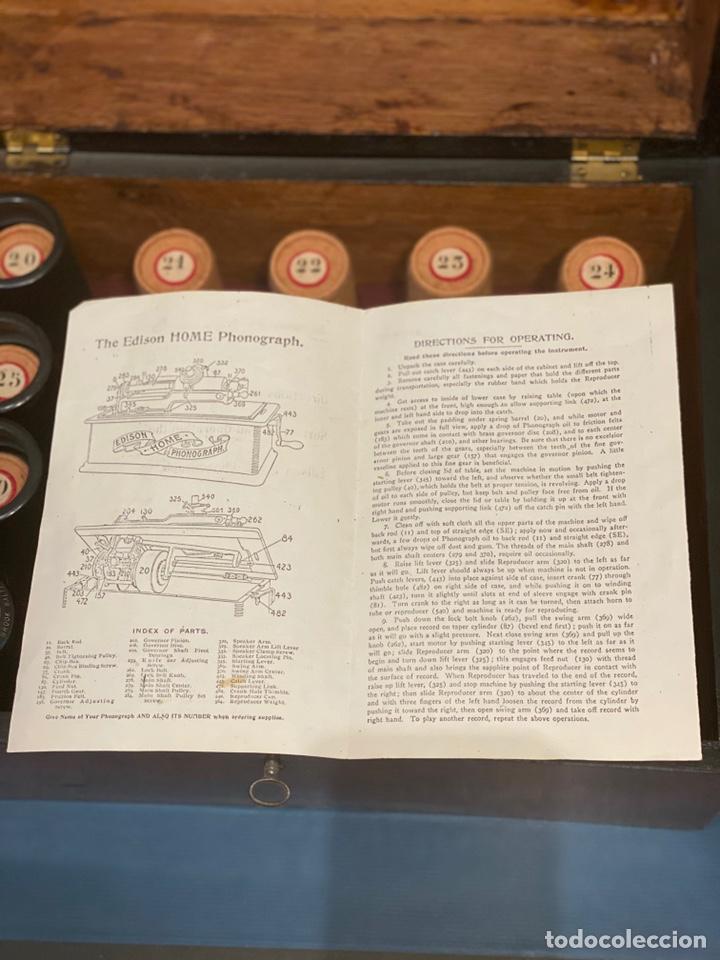 Fonógrafos y grabadoras de válvulas: Fonografo Edison primeros '900 + accesorios - Foto 18 - 204366555