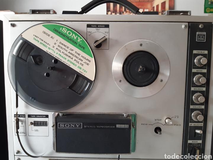 Fonógrafos y grabadoras de válvulas: Magnetofono Sony TC-630 para cintas de audio carrete a carrete bovina abierta reel to reel - Foto 5 - 210818079