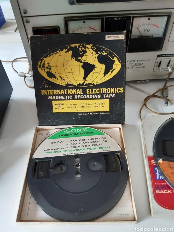 Fonógrafos y grabadoras de válvulas: Magnetofono Sony TC-630 para cintas de audio carrete a carrete bovina abierta reel to reel - Foto 14 - 210818079