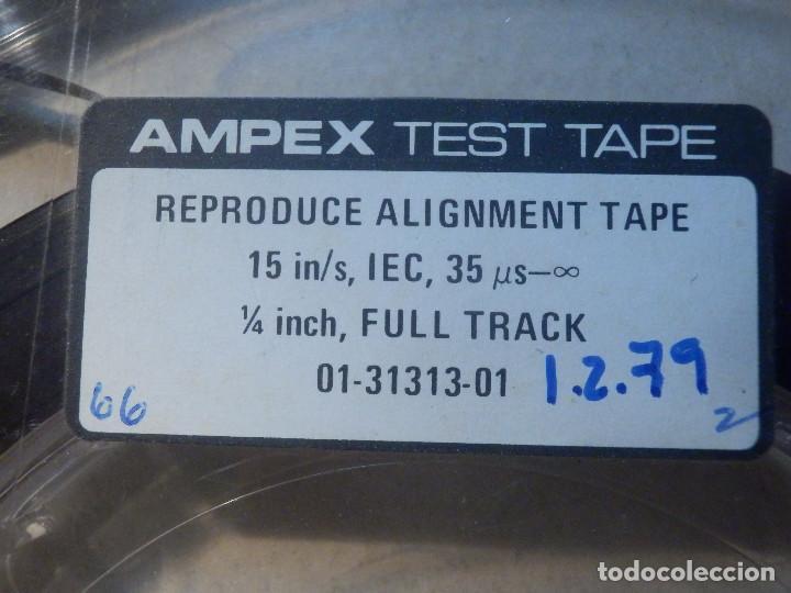 Fonógrafos y grabadoras de válvulas: Ampex Test Tape 70 micro segundos Cinta alineación azimut cabezal magnetófono Reel to Bobina Abierta - Foto 3 - 214270910