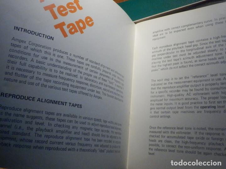 Fonógrafos y grabadoras de válvulas: Ampex Test Tape 70 micro segundos Cinta alineación azimut cabezal magnetófono Reel to Bobina Abierta - Foto 5 - 214270910