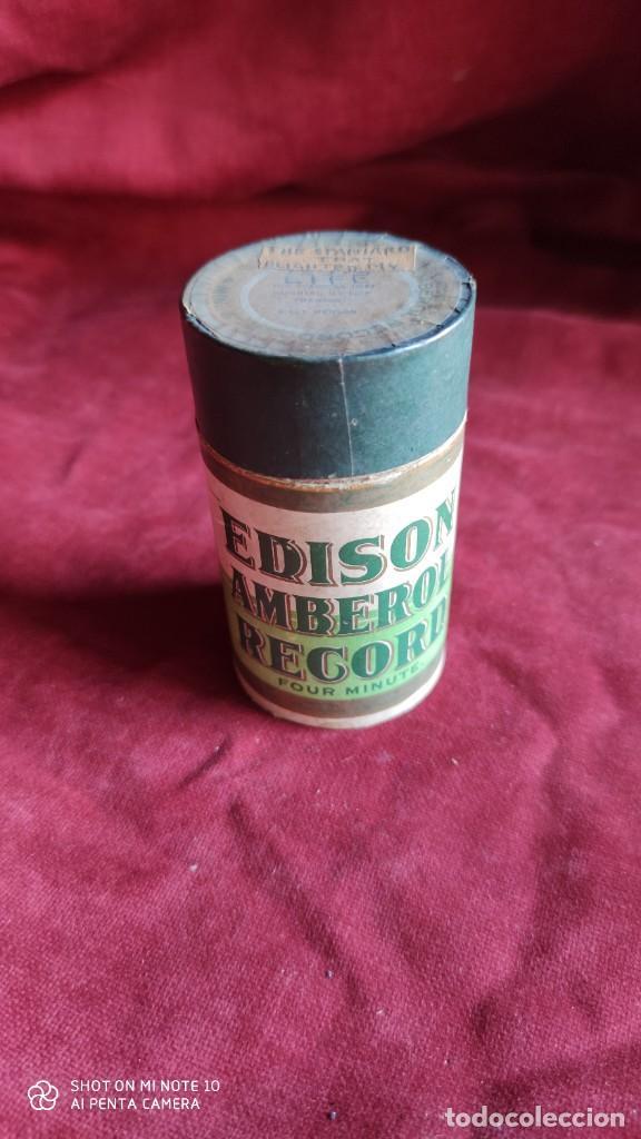 CILINDRO EDISON DE 4 MINUTOS PARA FONOGRAFO EDISON EN SU CAJA ORIGINAL ( VER FOTOS) (Radios, Gramófonos, Grabadoras y Otros - Fonógrafos y Grabadoras de Válvulas)