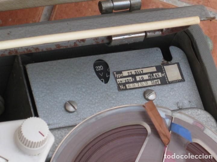 Fonógrafos y grabadoras de válvulas: Antiguo magnetofono Philips. Años 50. No funciona. - Foto 7 - 214495028