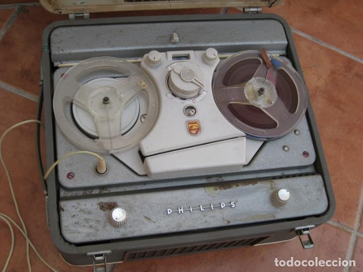 Fonógrafos y grabadoras de válvulas: Antiguo magnetofono Philips. Años 50. No funciona. - Foto 10 - 214495028