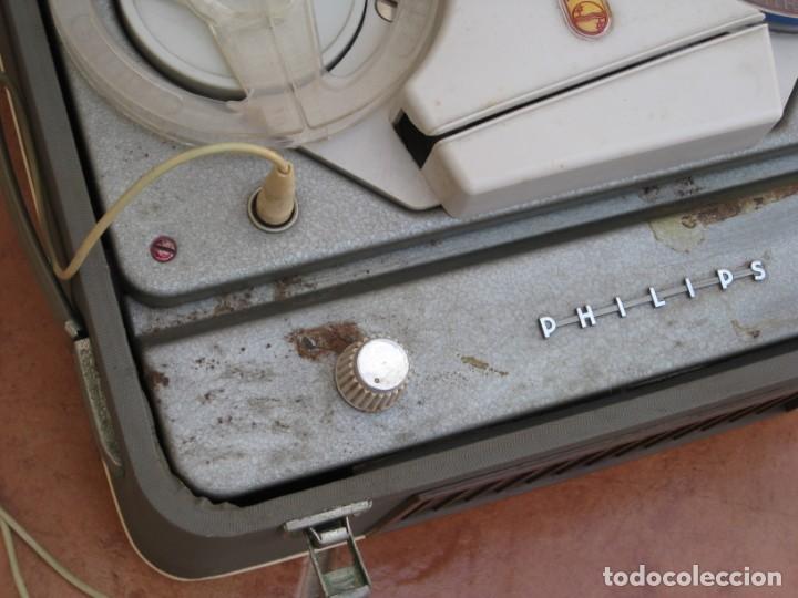Fonógrafos y grabadoras de válvulas: Antiguo magnetofono Philips. Años 50. No funciona. - Foto 12 - 214495028