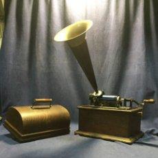 Phonographes et magnétophones à lampes: FONOGRAFO EDISON PPIO S XX CAJA Y PABELLON 100% ORIGINAL 36X33X20CM. Lote 216704387