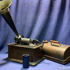 Phonographes et magnétophones à lampes: FONOGRAFO THOMAS E EDISON 5362920 PPIO S XX 32X24X40CMS. Lote 220552311