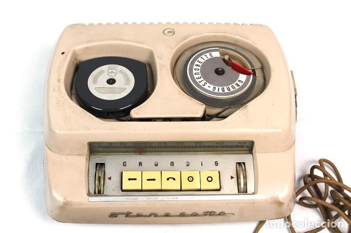 Fonógrafos y grabadoras de válvulas: ANTIGUA GRABADORA/DICTAFONO GRUNDIG. - Foto 2 - 226354225