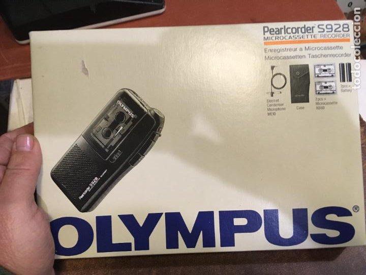Fonógrafos y grabadoras de válvulas: Grabadora Olympus en caja original sólo se utilizo para probarla. año 1998 microfono, funda, pinza - Foto 6 - 227979810