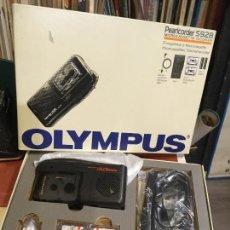Fonógrafos y grabadoras de válvulas: GRABADORA OLYMPUS EN CAJA ORIGINAL SÓLO SE UTILIZO PARA PROBARLA. AÑO 1998 MICROFONO, FUNDA, PINZA. Lote 227979810