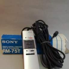 Fonógrafos y grabadoras de válvulas: MANDO A DISTANCIA VINTAGE CON CABLE, MODELO SONY RM-75T PARA SONY BETAMAX.. Lote 228039230