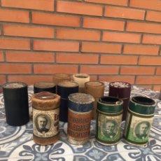 Fonógrafos y grabadoras de válvulas: LOTE 11 CILINDROS VARÍAS MARCAS FONOGRAFO . EDISON PATHE COLUMBIA. MÁS PONIENDO USMO. Lote 251649355