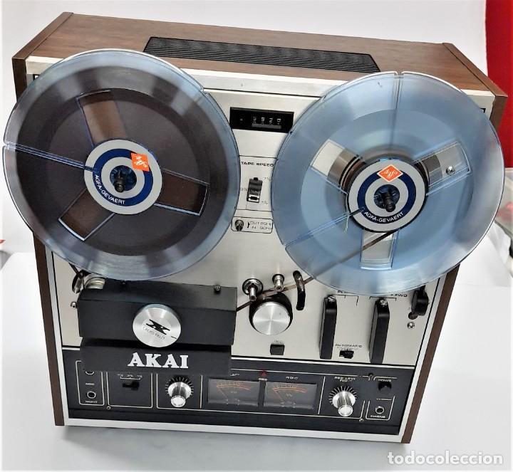 MAGNETÓFONO DE BOBINA ABIERTA AKAI X 201 D - SERIE 00811-00842 - GRABA BIEN (Radios, Gramófonos, Grabadoras y Otros - Fonógrafos y Grabadoras de Válvulas)