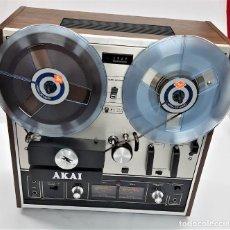 Fonógrafos y grabadoras de válvulas: MAGNETÓFONO DE BOBINA ABIERTA AKAI X 201 D - SERIE 00811-00842 - GRABA BIEN. Lote 260792135