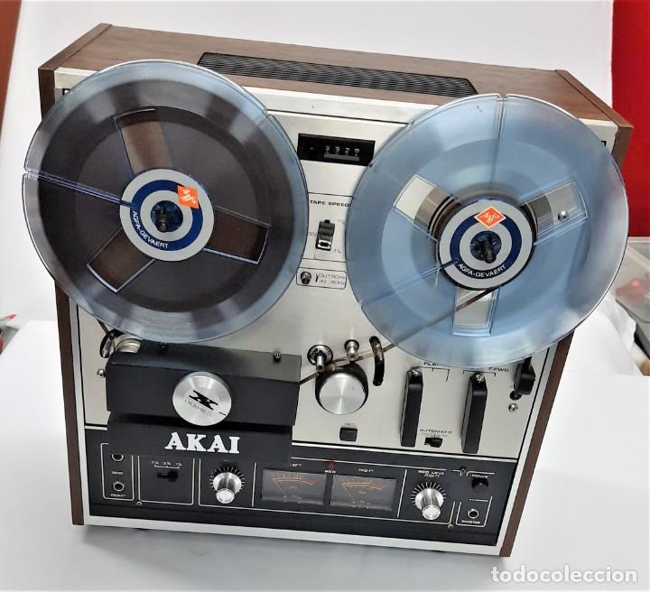 Fonógrafos y grabadoras de válvulas: MAGNETÓFONO DE BOBINA ABIERTA AKAI X 201 D - SERIE 00811-00842 - GRABA BIEN - Foto 3 - 260792135