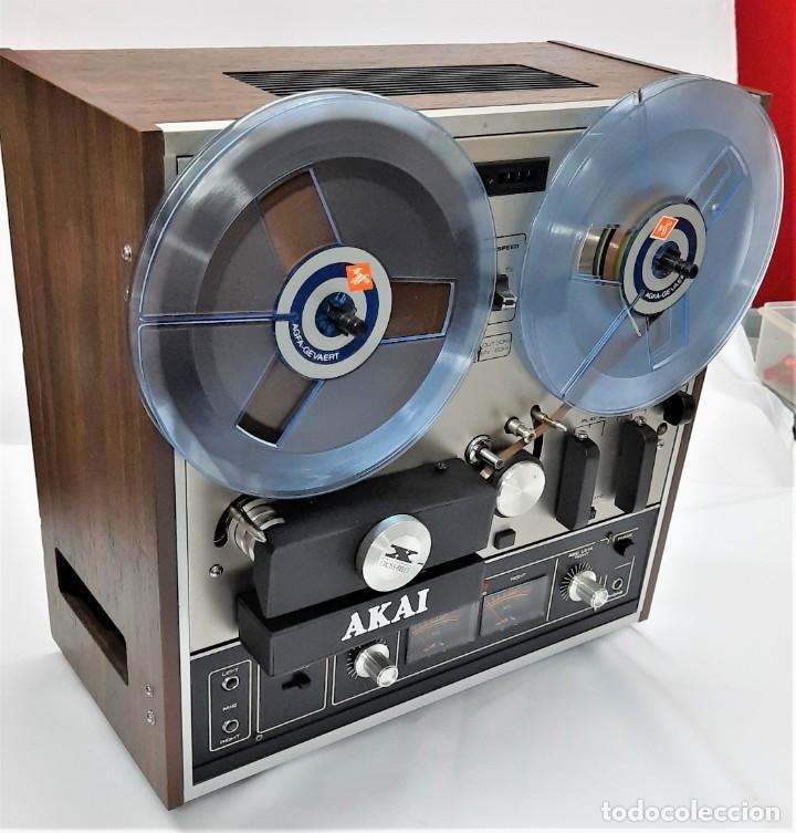 Fonógrafos y grabadoras de válvulas: MAGNETÓFONO DE BOBINA ABIERTA AKAI X 201 D - SERIE 00811-00842 - GRABA BIEN - Foto 6 - 260792135