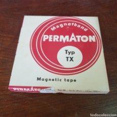 Fonógrafos y grabadoras de válvulas: CINTA MAGNETOFON VIRGEN - PERMATON TYP TX 18 CM. Lote 260844765