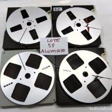 Fonógrafos y grabadoras de válvulas: CINTAS ALUMINIO METÁLICAS UHER PARA MAGNETÓFONO 18 CMS - LOTE 55 4CINTAS. Lote 261282525