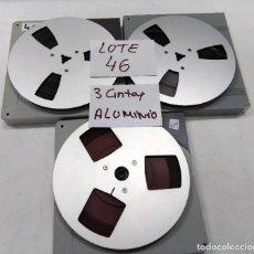 Fonógrafos y grabadoras de válvulas: CINTAS ALUMINIO METÁLICAS PARA MAGNETÓFONO 18 CMS - LOTE 46 - 3 CINTAS. Lote 261614235