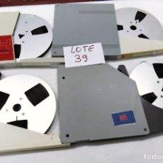 Fonógrafos y grabadoras de válvulas: CINTAS ALUMINIO METÁLICAS PARA MAGNETÓFONO 18 CMS - LOTE 39 - 4 CINTAS. Lote 261615610