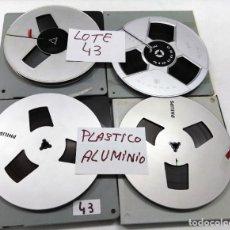 Fonografi e magnetofoni a valvole: CINTAS PLÁSTICO ALUMINIO PARA MAGNETÓFONO 18 CMS - LOTE 43 - 4 CINTAS PHILIPS, GRUNDIG. Lote 261619465