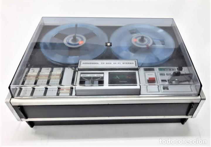Fonógrafos y grabadoras de válvulas: Magnetófono de bobina abierta Grundig TK 545 Nº de serie 52177 - Foto 2 - 261626080
