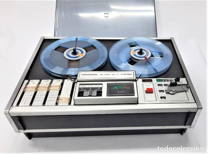 Fonógrafos y grabadoras de válvulas: Magnetófono de bobina abierta Grundig TK 545 Nº de serie 52177 - Foto 3 - 261626080