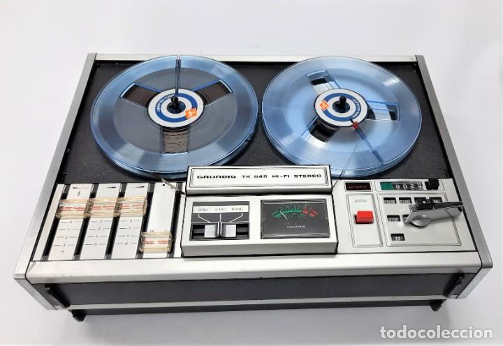 Fonógrafos y grabadoras de válvulas: Magnetófono de bobina abierta Grundig TK 545 Nº de serie 52177 - Foto 4 - 261626080