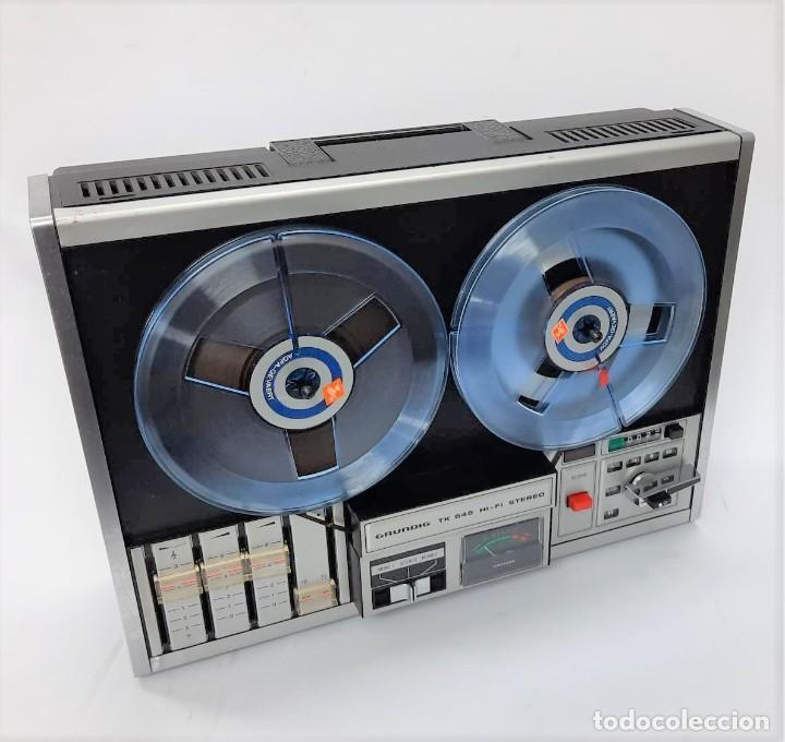 Fonógrafos y grabadoras de válvulas: Magnetófono de bobina abierta Grundig TK 545 Nº de serie 52177 - Foto 5 - 261626080