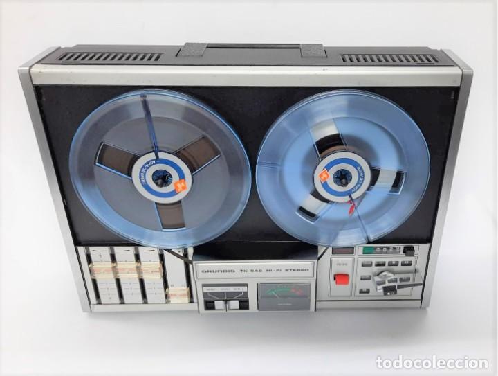 Fonógrafos y grabadoras de válvulas: Magnetófono de bobina abierta Grundig TK 545 Nº de serie 52177 - Foto 7 - 261626080