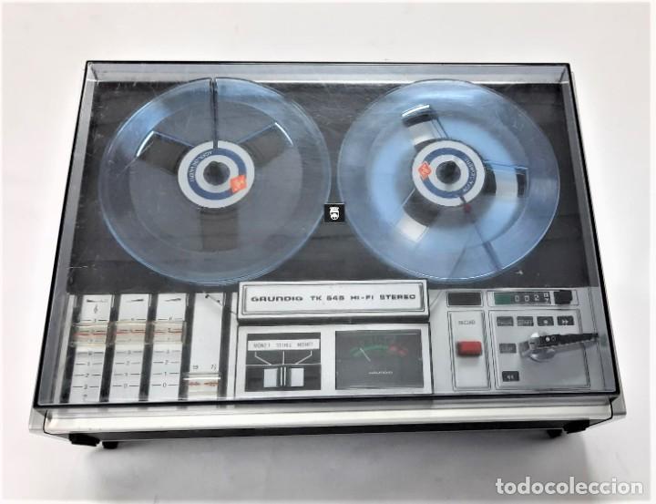 Fonógrafos y grabadoras de válvulas: Magnetófono de bobina abierta Grundig TK 545 Nº de serie 52177 - Foto 8 - 261626080