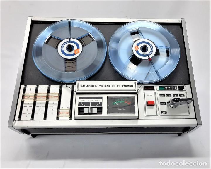 Fonógrafos y grabadoras de válvulas: Magnetófono de bobina abierta Grundig TK 545 Nº de serie 52177 - Foto 10 - 261626080
