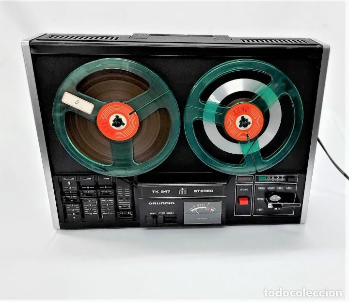 Fonógrafos y grabadoras de válvulas: Magnetófono de bobina abierta Grundig TK 547 Nº de serie 45826 - GRABA BIEN - Foto 4 - 261856220