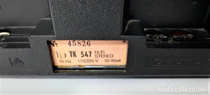 Fonógrafos y grabadoras de válvulas: Magnetófono de bobina abierta Grundig TK 547 Nº de serie 45826 - GRABA BIEN - Foto 6 - 261856220