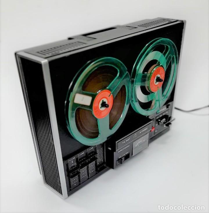 Fonógrafos y grabadoras de válvulas: Magnetófono de bobina abierta Grundig TK 547 Nº de serie 45826 - GRABA BIEN - Foto 8 - 261856220