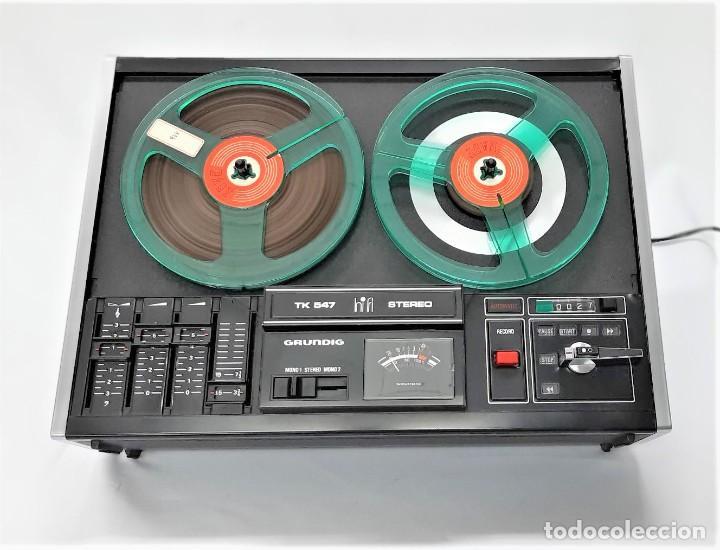 Fonógrafos y grabadoras de válvulas: Magnetófono de bobina abierta Grundig TK 547 Nº de serie 45826 - GRABA BIEN - Foto 10 - 261856220