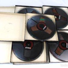 Fonografi e magnetofoni a valvole: LOTE Nº 13 - COMPUESTO POR 5 CINTAS MARCA BASF NEGRAS DE 18 CMS - COMPLETAS. Lote 262032750