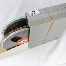 Fonógrafos y grabadoras de válvulas: LOTE Nº 11 - COMPUESTO POR 3 CINTAS MARCA BASF DE 18 CMS - COMPLETAS. Lote 262033965