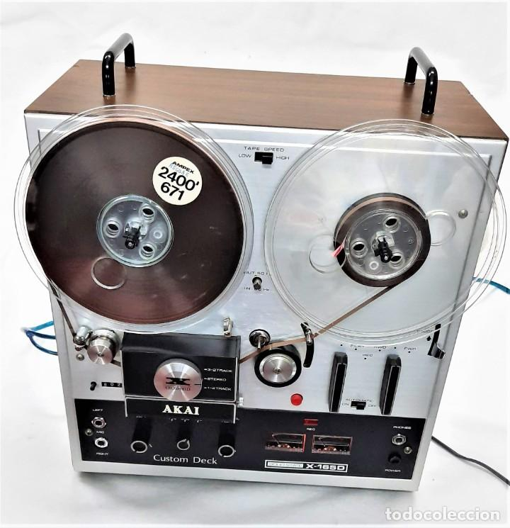 MAGNETÓFONO DE CINTA ABIERTA AKAI X 165-D - SERIE Nº 70419-01857 - GRABA BIEN VER VÍDEOS (Radios, Gramófonos, Grabadoras y Otros - Fonógrafos y Grabadoras de Válvulas)