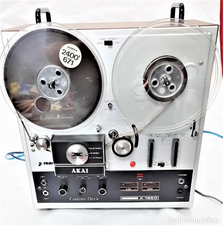Fonógrafos y grabadoras de válvulas: MAGNETÓFONO DE CINTA ABIERTA AKAI X 165-D - SERIE Nº 70419-01857 - GRABA BIEN VER VÍDEOS - Foto 2 - 262097700
